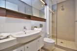 Bathroom with towels and toiletries