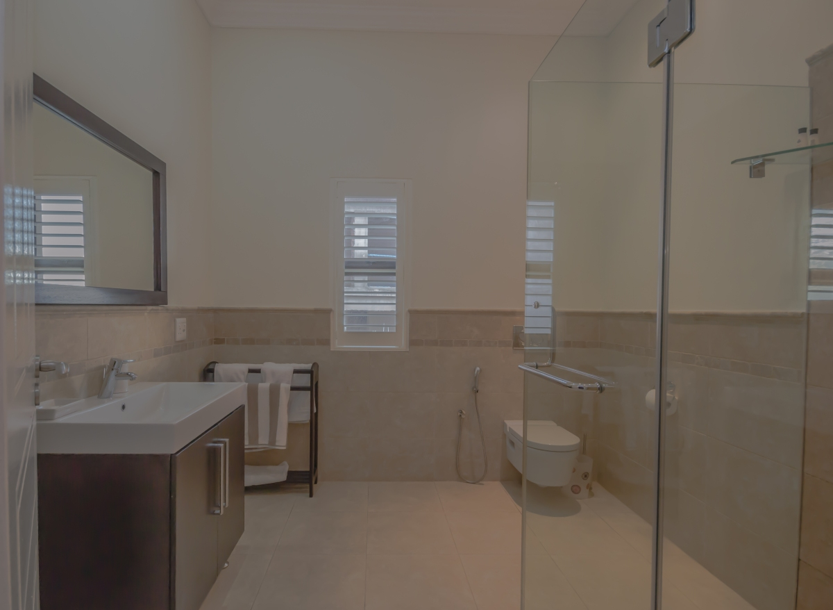 All five bathrooms have showers, bidet showers, towels and toiletries