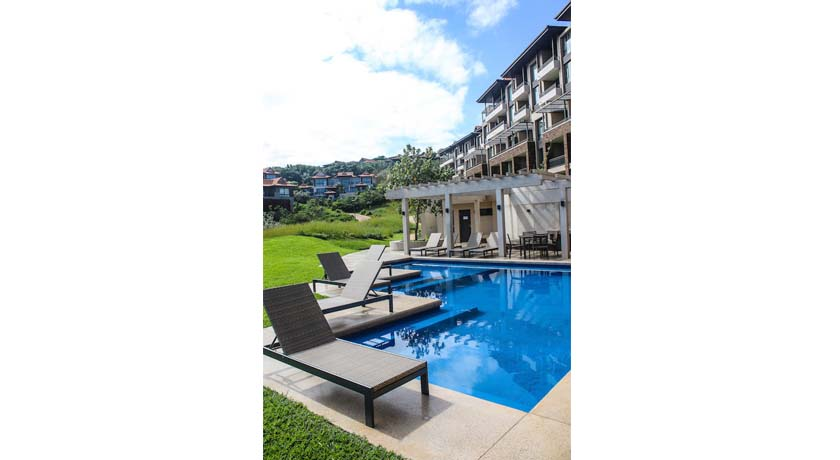Zimbali suites communal pool area with barbecue facilities
