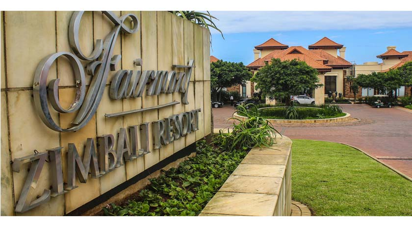 Zimbali Suites on the right of Fairmont hotel