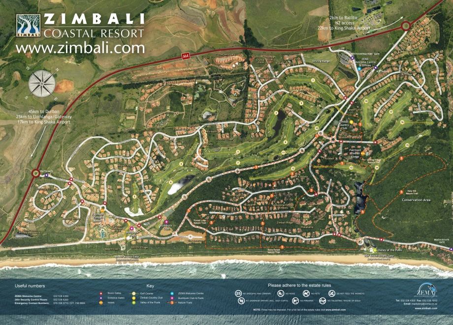 Zimbali Estate Map